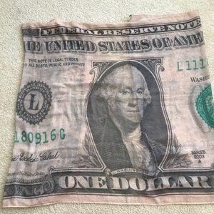 Nastygal one dollar bill print scarf